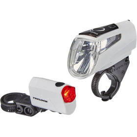 Trelock LS 460 I-GO POWER+LS 720 Battery Lighting Set white
